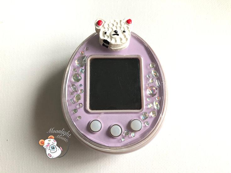Tamagotchi P's Purple English with Cake Bear Plug Bandai Japan 2012