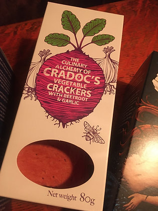 Cradocs: Vegetable Crackers with Beetroot and Garlic