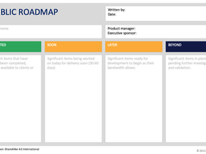 Create a Roadmap without Dates
