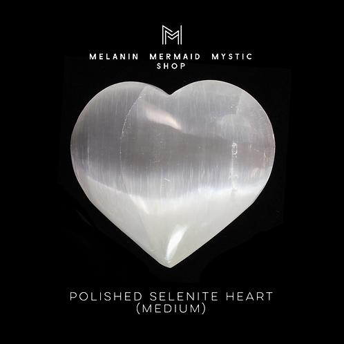 Polished Selenite Heart (medium)