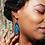 Thumbnail: Blue Agate Slice Earrings