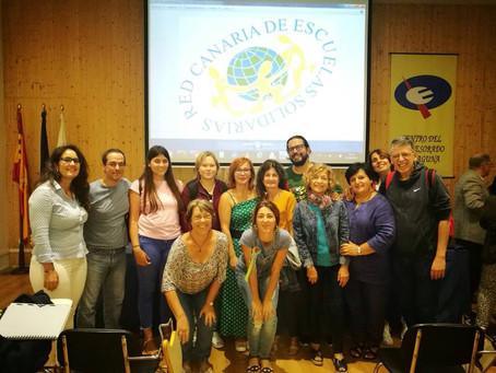 Paz En Construcción en los encuentros de la  Red Canaria de Escuelas Solidarias.