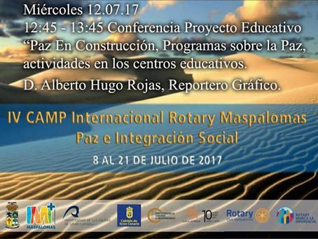 Conferencia Paz En Construcción, Universidad de Verano de Maspalomas - IV CAMP Internacional Rotary