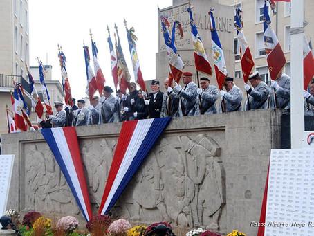 Paz En Construcción en el 99 Aniversario del Armisticio de 1918 en la Ville de Caen.