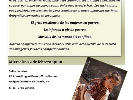 Charla Paz En Construcción en Telde Gran Canaria.