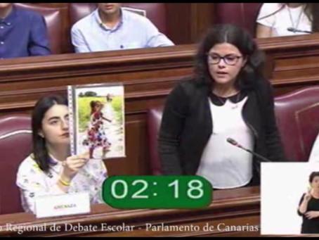 I Concurso Regional de Debate Escolar Parlamento de Canarias.