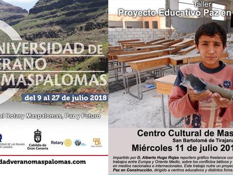 Paz En Construcción Participara Por Segundo Año consecutivo en Universidad de Verano de Maspalomas.