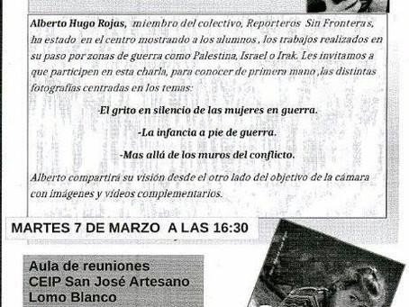 Charla Paz En Construcción en Las Palmas de Gran Canria.