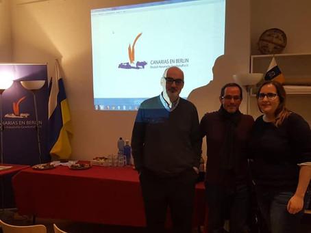 La Asociación Canarias En Berlín Organizo La Charla - Coloquio De Paz En Construcción