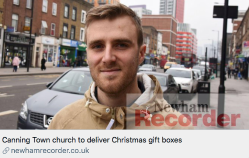 Canning Town church to deliver Christmas Gift Boxes - Our Better Newham BN Press Release