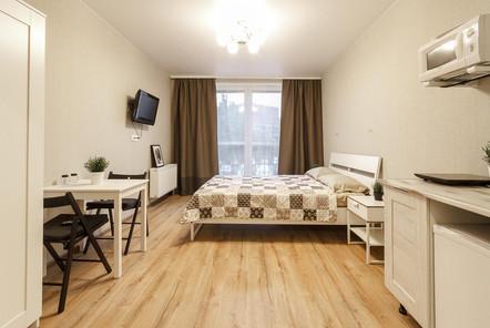 Квартира-студия посуточно на 4-й Железнодорожной