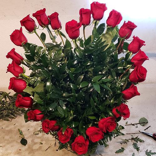 Flower heart arrangement