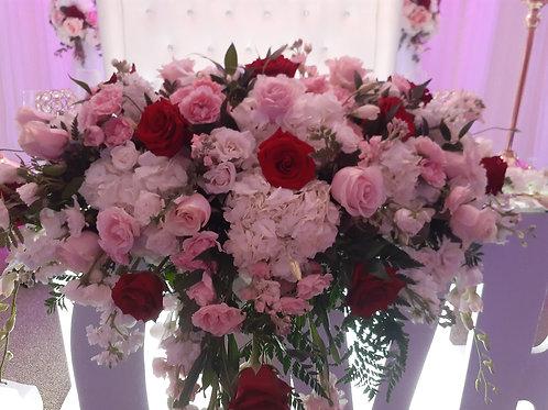 Pink and Red Wedding Arrangement