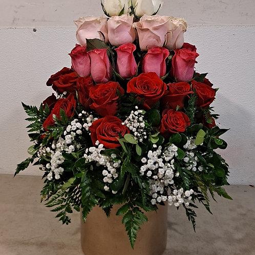Round Rose Arrangement