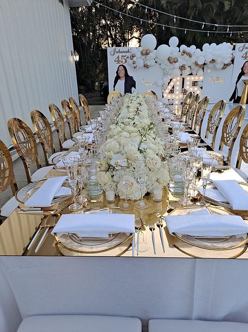 Flower arrangement full table price per foot