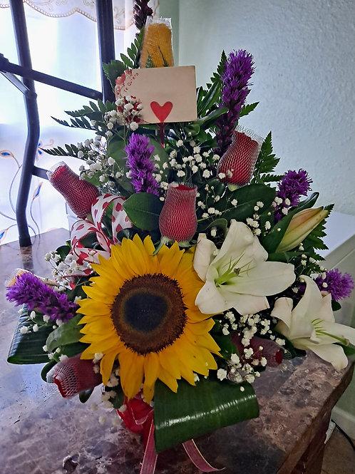 Sun flower wild arrangement