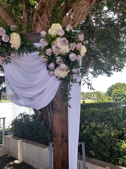 Wedding Flower arrangements for Arches for each