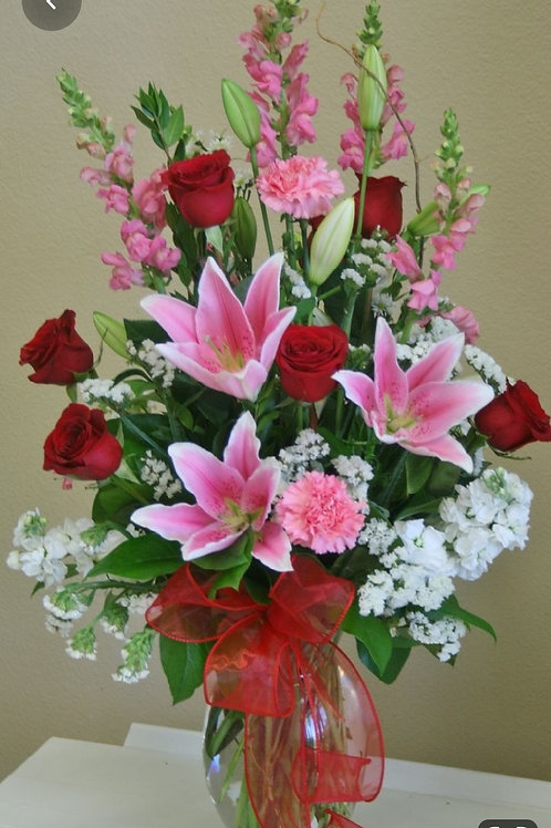 Lilly and rose Arrangement