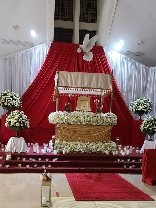 Pastor's ceremony decorations, In church 1,500 call in for pricing