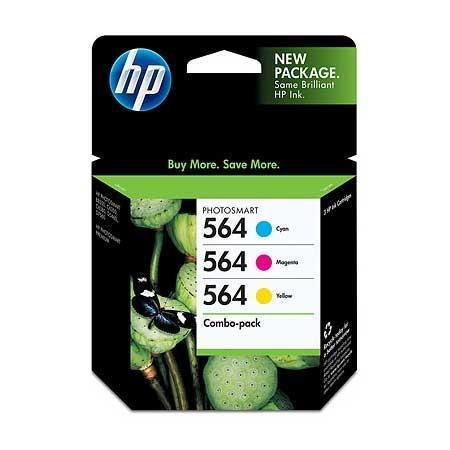HP 564 Combo Pack OEM Genuine Inkjet/Ink Cartridge