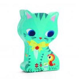Puzzle Silhouette Katze