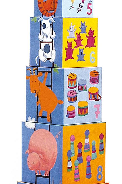 Stapelwürfel - 10 lustige Blocks -Djeco
