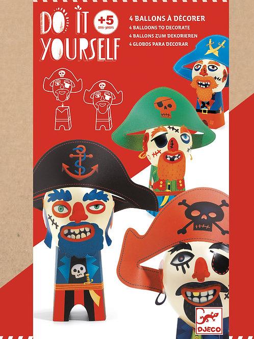 Do it yourself - Ballons Dekorieren Piraten