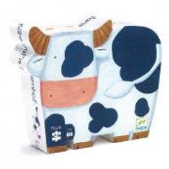 Puzzle Silhouette Kuh auf dem Bauernhof
