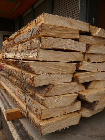 Schritt 1: Bohlen vom Holzhändler