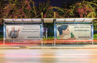 Idee und Gestaltung für Werbeplakate