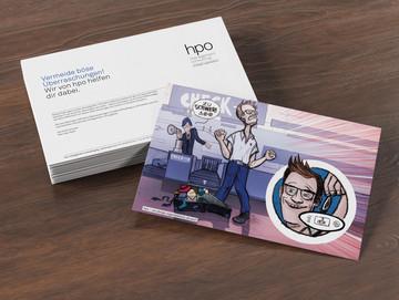 Idee und Gestaltung für einen Flyer