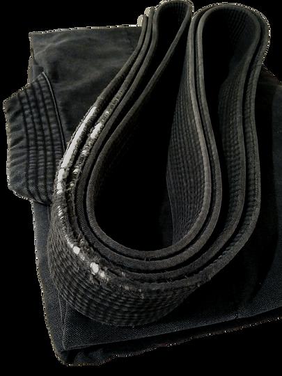 Uniform and weathered black belt