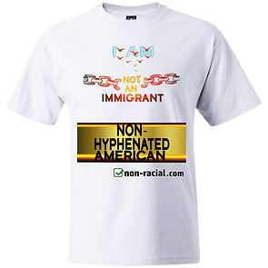 I Am Not An Immig White Tee -- DynamicIm