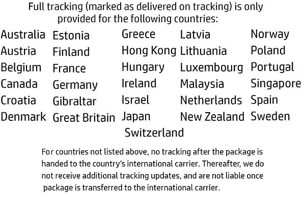CustomCat International Shipping Trackin