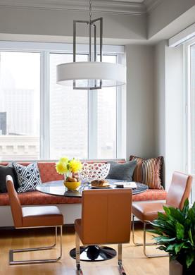 Dee Elms breakfast room in Boston high-rise