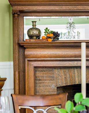 Arts & Crafts fireplace detail