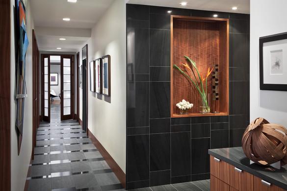 Back Bay penthouse foyer
