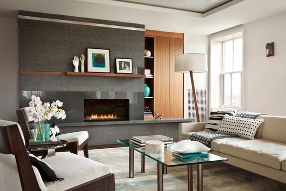 Back Bay penthouse living room