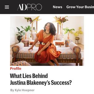 AD PRO story: What Lies Behind Justina Blakeney's Success?