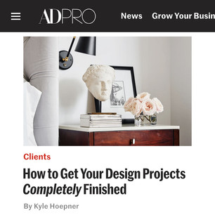 AD PRO story: How to Get Your Design Projects Completely Finished