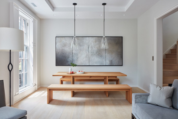Serene Beacon Hill townhouse dining room