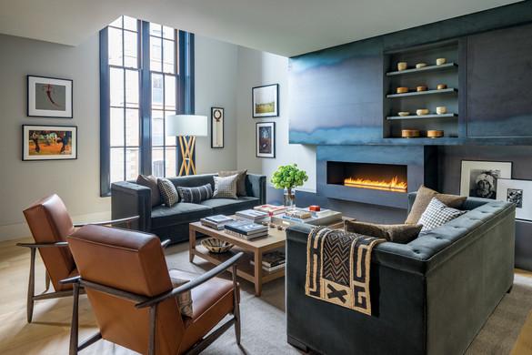 Renovated Boston condo living room