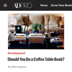 AD PRO story: Should You Do a Coffee Table Book?