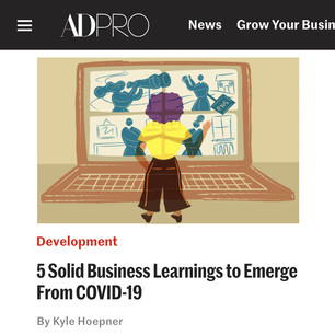AD PRO story: 5 Solid Business Learnings to Emerge from COVID-19