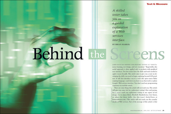 Behind the Screens feature opener