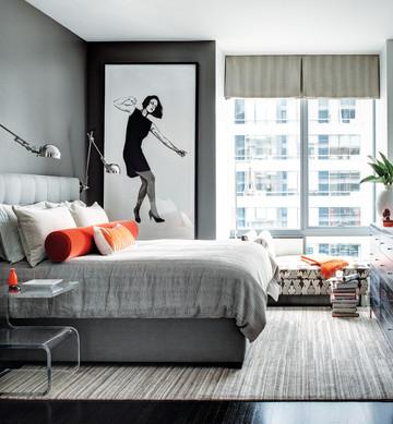 Eric Roseff bedroom in Boston high-rise
