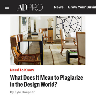 AD PRO story: What Does it Mean to Plagiarize in the Design World?