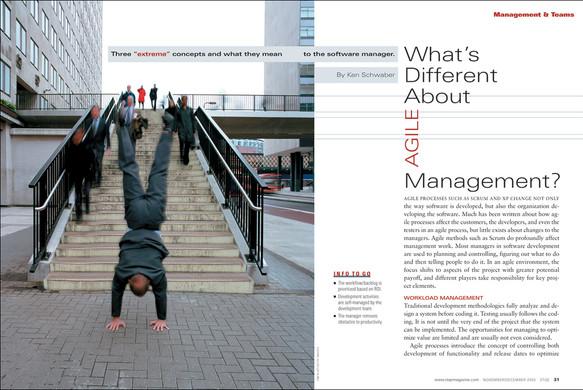 Agile Management feature opener