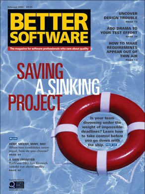Saving a Sinking Project issue cover