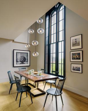 Renovated Boston condo dining room